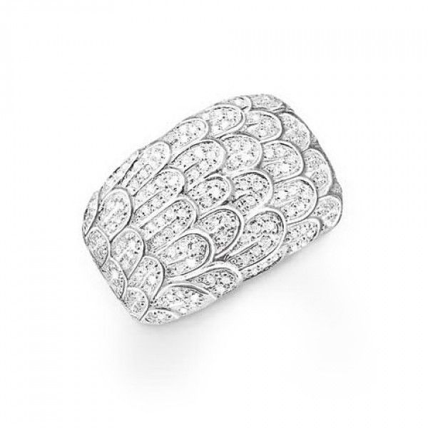 Thomas Sabo Ring Glitzerfedern